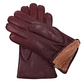 Dents Men's Fur Lined Leather Gloves - English Tan - Size S / 8""