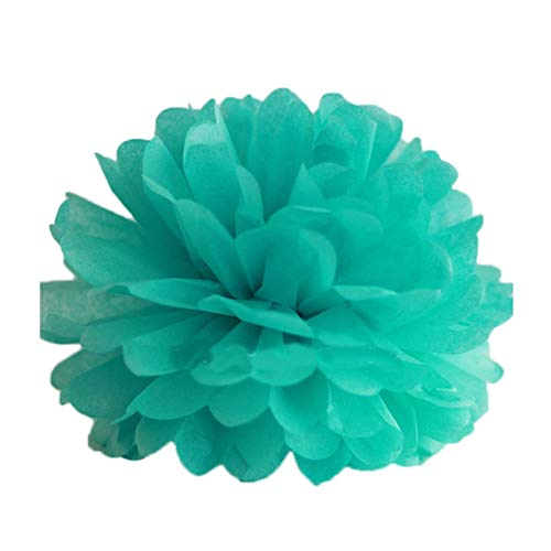 LOVEfiower Fiower Pompoms Hochzeit Dekorpapier Blumen Ball Party Dekoration Papier 10Cm 4Inch Tiffany Blau