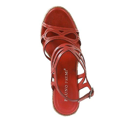 BRUNO PREMI Damen Plateau-Sandaletten Poncho rot Absatzhöhe: 13cm Rot