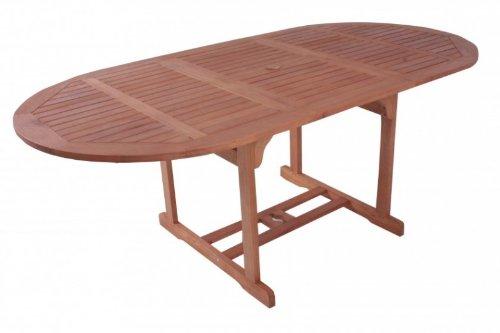 Vamundo Table à rallonge de Jardin Ovale en Bois d'eucalyptus fSC huilé