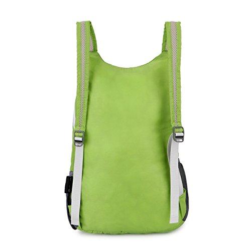 Outdoor Leichte Faltbare Schulter Tasche Tragbar Wasserdicht Wandern Tasche Green