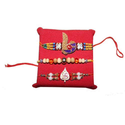 handicrunch-rakhi-set-of-3-graceful-multicolor-pearl-rakhi-with-haldirams-rasgulla