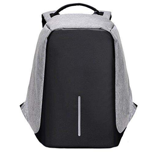 LILICAT Unisex Herren Business Laptop Backpacks Nylon Damen Laptop Canvas Taschen Mode Schultaschen Anti Diebstahl Wasserdicht beständig Reisetasche Rucksack für Notebook 14 Zoll - 17 Zoll (Grau) (Hobo Denim)
