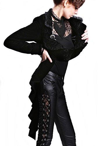 Kostüme Damen festliche Jacke Blazer Frack Gothic Lolita BURLESQUE VICTORIAN Romantic (M) (Express Kostüm Burlesque)