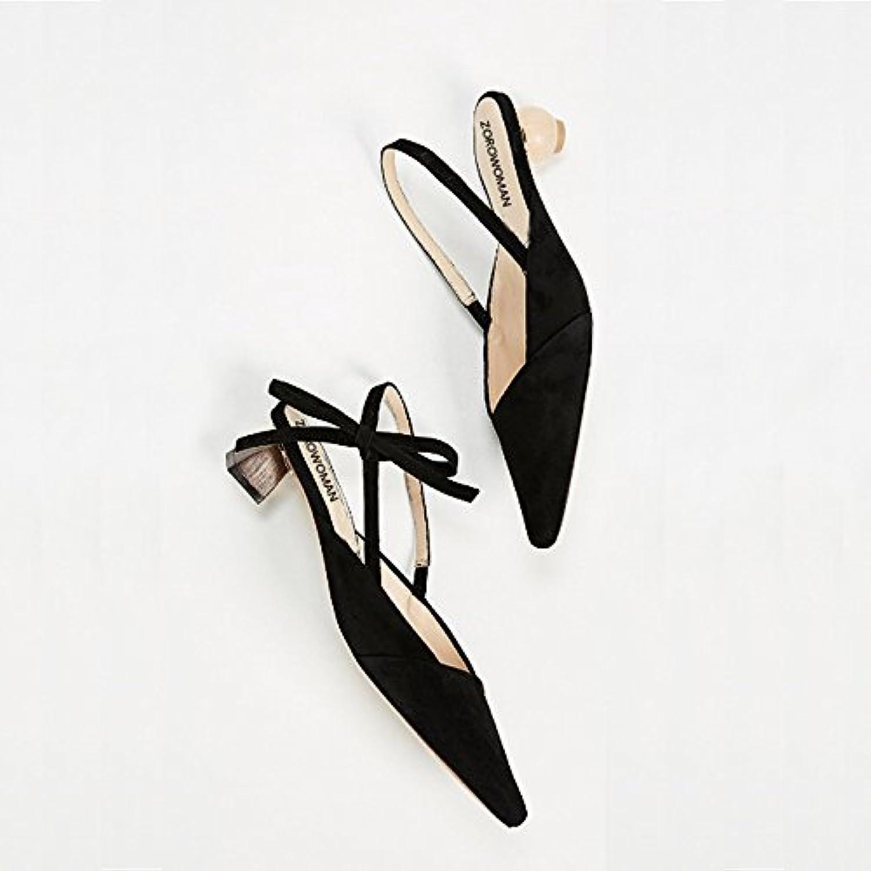Xue Qiqi punta con la parola parola parola alien sandali con il filtro bow tie satin comfort calzature donna,34, Beige | Il materiale di altissima qualità  45906c