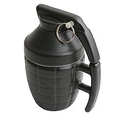 Idea Regalo - WoW STORE Tazza divertente a forma di Granata con coperchio in ceramica - Tazza di caffè / té - regalo divertente