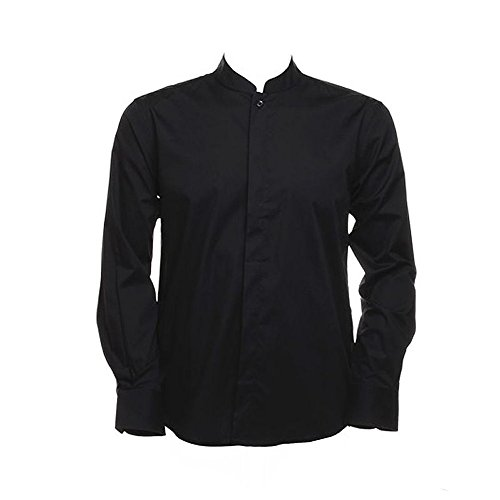 Bargear Bar Shirt Mandarin Collar Long Sleeve nero - nero