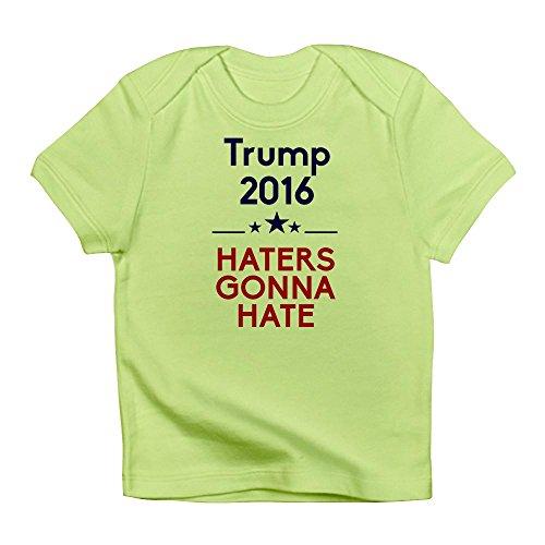 Yokona CafePress - Trump 2016 Haters Gonna Hate - Cute Infant T-Shirt, 100% Cotton Baby Shirt 18-24 Months,Kiwi