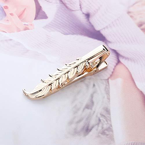 JTXZD Brosche Mode stilvolle Bart interessante Schere Blatt Krawattenklammer für Mann Anzug Männer Krawattenklammer