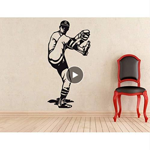 Wandaufkleber Wandtattoo Tapete Baseball Sport Wanddekor Vinyl Abnehmbare Jungen Kinder Aufkleber Innen Poster Art Decel 42 * 85 Cm