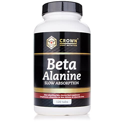 411D4BNIT7L. SS500  - Crown Sport Nutrition Beta Alanine Slow Absorption, Helps to Reduce paresthesia, Supplement for Athletes - 120 Tablets