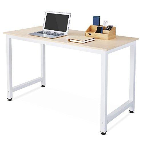 HOMFA 120x60cm Schreibtisch Computerschreibtisch Computertisch PC Tisch Esstisch Partytisch Bürotisch Arbeitstisch(Aahornfarbe)