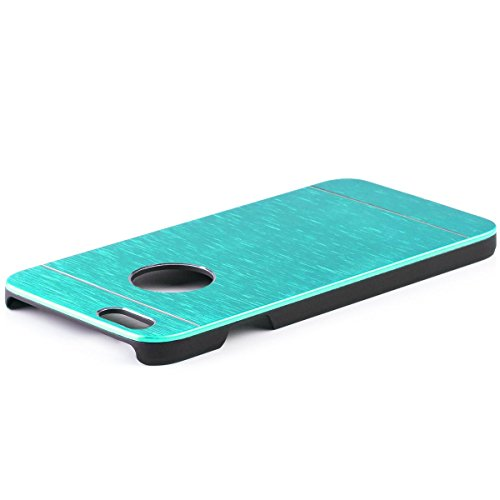 iCues Apple iPhone 6S / 6 |  Alu Case Gebürstet Schwarz | [Display Schutzfolie Inklusive] CNC Aluminium Metall Metallic Schutzhülle Hülle Cover Schutz Light Blue