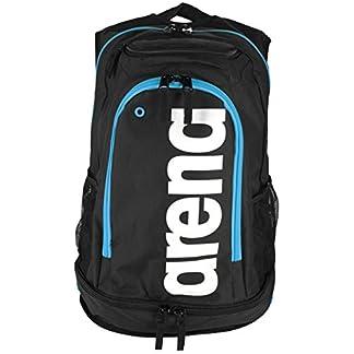 411D6Q5U%2BnL. SS324  - arena Fastpack Core Mochila, Unisex Adulto, Negro (Black/Turquoise), 36x24x45 cm (W x H x L)