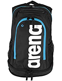 arena Fastpack Core Mochila, Unisex Adulto, Negro (Black/Turquoise), 36x24x45 cm (W x H x L)