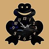DONEG DIY Creativo Rana Lindo Espejo Reloj De Pared Acrílico Sofá Fondo Etiqueta De La Pared...