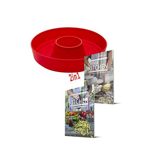 OMNIA-KITCHEN Omnia Silikonform 2-teiliges Spar-Set   Omnia Silikonform 2.0 + 2in1 Koch- und Backideen (Kochbuch)