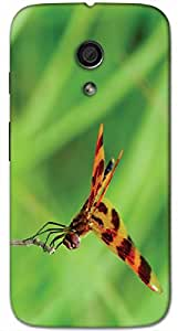 Timpax protective Armor Hard Bumper Back Case Cover. Multicolor printed on 3 Dimensional case with latest & finest graphic design art. Compatible with Motorola Moto -G-2 (2nd Gen )Design No : TDZ-25829