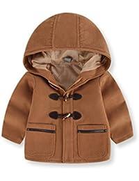 Odejoy Bambini Neonati Autunno Inverno Cappotto Cappotto Cappotto Giacche  Abiti Spessi Spessi Inverno Cotone Cappuccio Cappotto 435bd94e7de