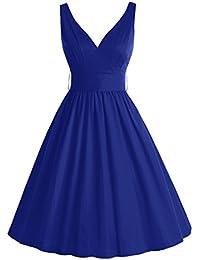 Bbonlinedress modèle 8 Vintage rétro Audrey Hepburn robe de soirée cocktail années 50 col en V