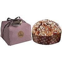 Panettone artigianale ricoperto di glassa e mandorle di Sicilia, 1 kg, incarto a mano