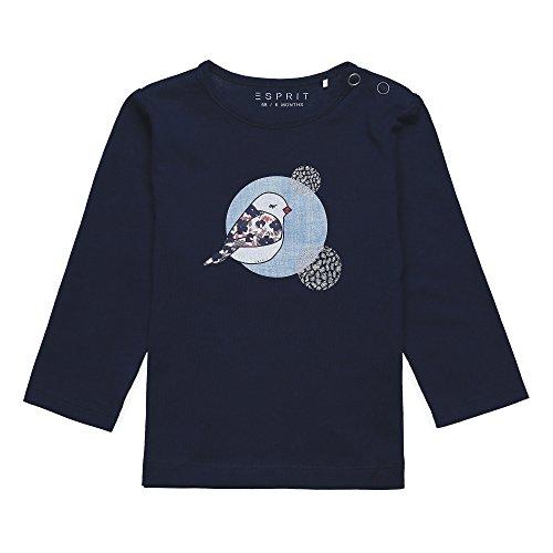 Esprit Kids Baby-Mädchen Langarmshirt T-Shirt, Blau (Navy 490), 86
