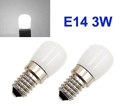 Preisvergleich Produktbild 2 stk. E14 LED Leuchtmittel der Dunstabzugshaube Küche des Kühler der, zszt 3 W (entspricht Bulbus des 15 – 20 W Halogen), 6000 K kaltweiß