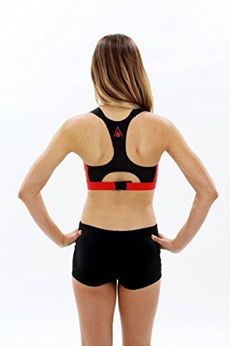 Aqua Sphere Damen Badeanzug rot - rot / schwarz