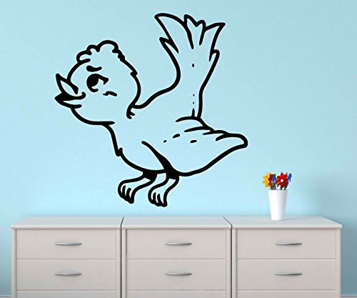 Wandtattoo Vogel Spatz lustig sticker Tattoo Tier Tür Auto Aufkleber Wohnzimmer Schlafzimmer Kinderzimmer 1B210