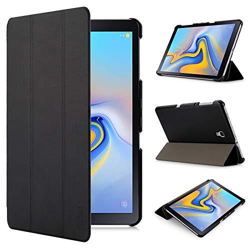 iHarbort Hülle Cover kompatibel mit Samsung Galaxy Tab A 10.5 Zoll (2018 veröffentlicht SM-T590 / T595) - Ultra dünn Etui Schutzhülle Case Holder Stand mit Smart Auto Wake/Sleep Funktion, schwarz -