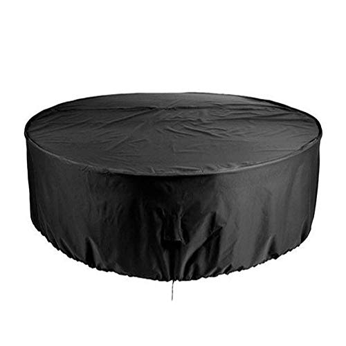 QPllRZZ Outdoor Gartenmöbel Wasserdicht UV Beständig Rund Garten Tischdecke Atmungsaktiv Kreissäge Tisch & Stuhl Abdeckung - Wie Bild Show, 185x110cm -