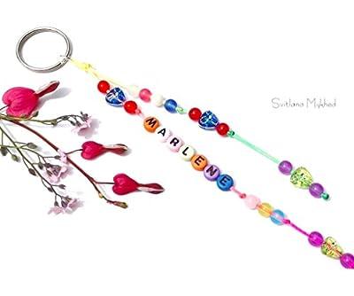 Porte clés MARLENE réversible, personnalisable avec prénom ou message