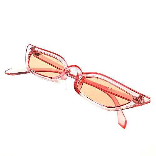 YUHANGH Mode Sonnenbrillen-Mann Retro Bunte Transparente Kleine Bunte Cat Eye Sunglasses