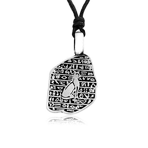 Llords – Jeroglífico egipcio gato egipto real pelter colgante collar