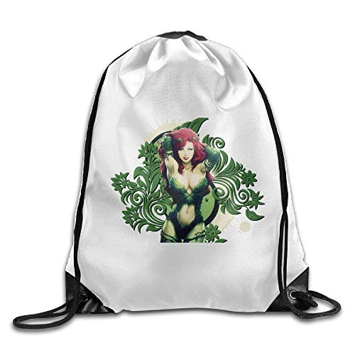 HLKPE Gym Poison Ivy FictionalSuper Hero Drawstring Backpack Bag (Ivy Poison Make-up)