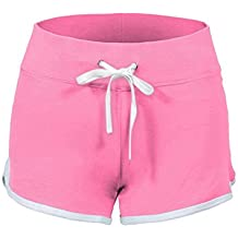 34a8b393faf8 SWISSWELL Damen Sport Shorts Kurze Hosen Baumwolle Yoga Athletik Tanzen Shorts  Fitness Hot Pants Hipster Workout