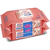 Johnson's Baby Skincare Wipes, 2*80 cloth wipes (Pack of 2, Rs. 60 off)