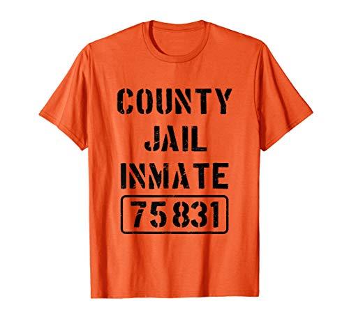 Kostüm Shirt Häftling - Gefängnisinsasse Häftling Gefangener Knast Halloween Kostüm T-Shirt