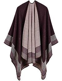 Femme Cape Poncho Extra Large écharpe Châle Blanket Poncho Automne Hiver 8b6b1957c9d