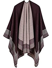 Femme Cape Poncho Extra Large écharpe Châle Blanket Poncho Automne Hiver b2a6e60ef6b