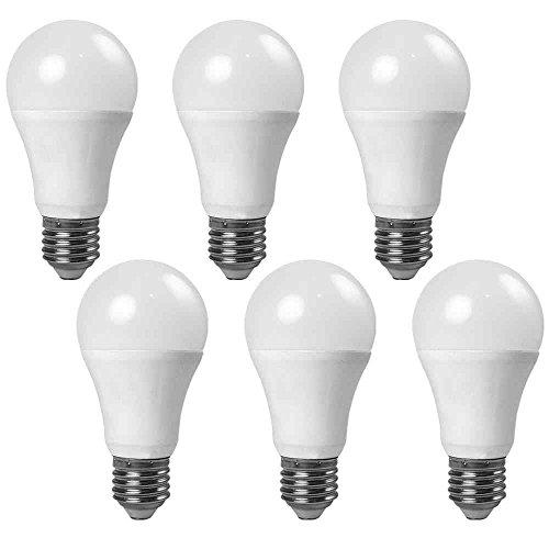 Abdeckung Globe Licht (Granvoo 6-er Pack E27 7W Warmweiß Lichtsensor LED Globe Licht mit Aluminium Legierung + PC-Abdeckung AC 85-265V 7X3030 SMD)