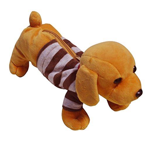 Ashdown Bambini Animale Peluche Astuccio Porta Penne Borsa Ufficio Scuola Forniture Yellow Labrador