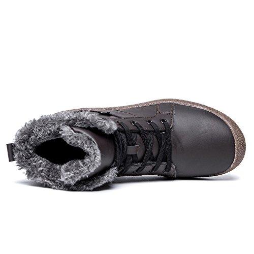 Scarpe Invernali Da Uomo Yiruiya Impermeabili Stivali Da Neve Foderati Caldi Grigio Scuro