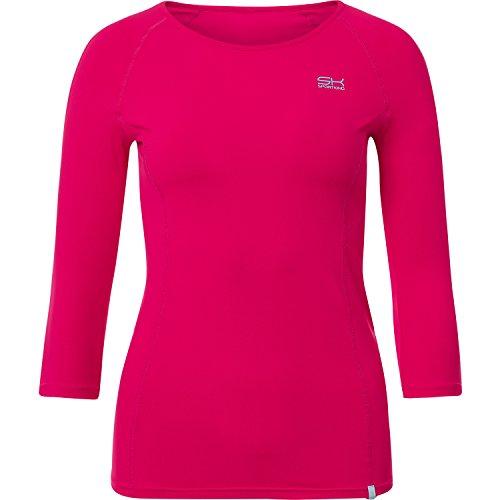 Sportkind Mädchen & Damen Tennis/Fitness/Running 3/4-Arm Shirt, pink, Gr. 152