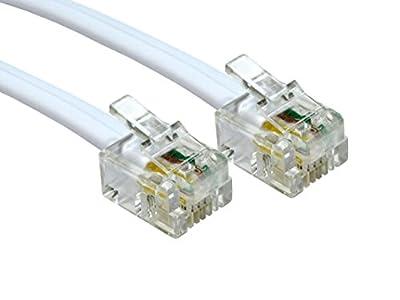 Alida Systems ® - Supérieure Qualité / Broches de Contact Plaqué Or / Internet Haute Vitesse à Large Bande / Routeur ou Modem à la Prise Téléphonique RJ11 ou Microfiltre par Alida Systems