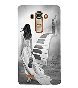 FUSON Stairs Of Piano Key 3D Hard Polycarbonate Designer Back Case Cover for LG G4 :: LG G4 Dual LTE :: LG G4 H818P H818N :: LG G4 H815 H815TR H815T H815P H812 H810 H811 LS991 VS986 US991