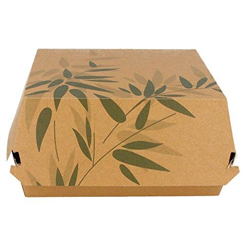 Garcia de Pou 300Einheit Burger GIANT Feel grün in Box, Kraft, natur, 17x 17x 8cm (8 Sandwich-einheit)