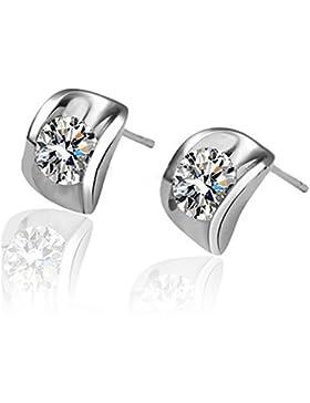 Modische Ohrringe Swarovski Elements für Damen Frauen Kinder Fashion Elegante Kristall 925 Sterling Silber Ohrstecker...