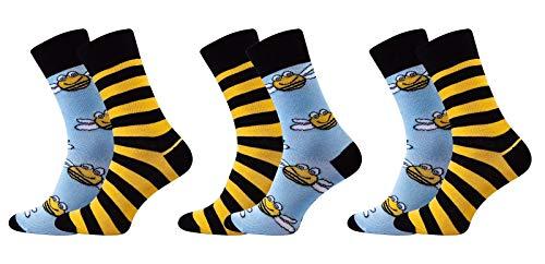 Preisvergleich Produktbild Sesto Senso Baumwolle Wadensocken 3 pack,  Bunte gemusterte Socken für Damen und Herren,  Unisex vereinigte ungerade Socken (43-46
