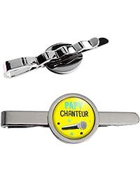 Epingle Pince Cravate Papy Chanteur - Micro - Humour Idée Cadeau Homme  Grands Parents Anniversaire Fête 1b617afc847